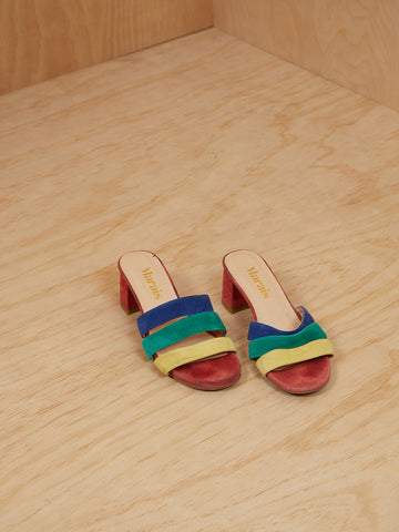 Marais Colorful Suede Slides