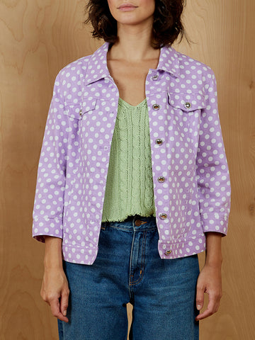 Christopher & Banks Polka Dot Jacket