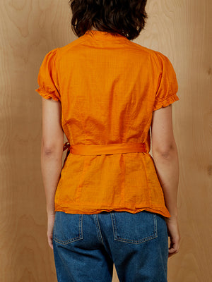 Edme & Esyllte Orange Wrap Shirt