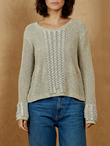 Sass & Bide Beaded Long Sleeve Sweater