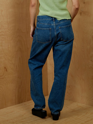 COS Mid Rise Straight Fit Cropped Length Jeans