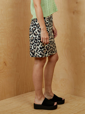 Loft Leopard Print Mini Skirt