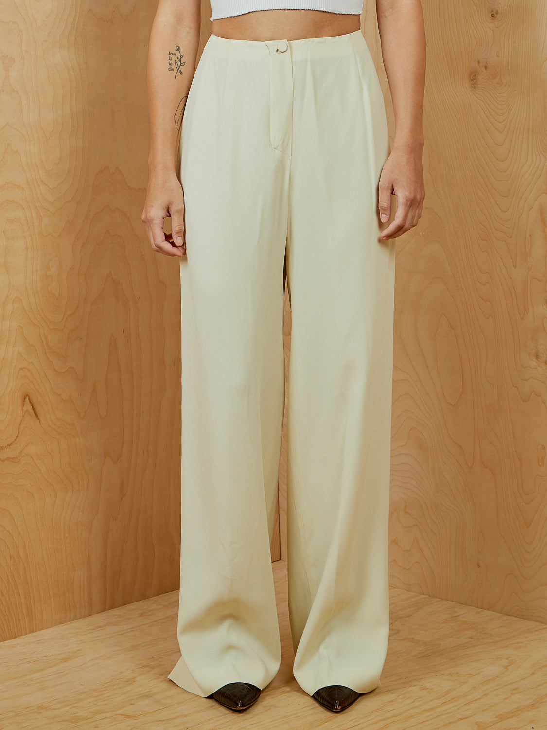 Armani Yellow Silk Pants