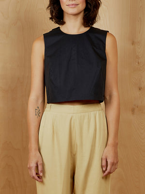 Everlane Black Sleeveless Crop Top