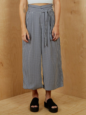 Checkered Wide Leg Pant