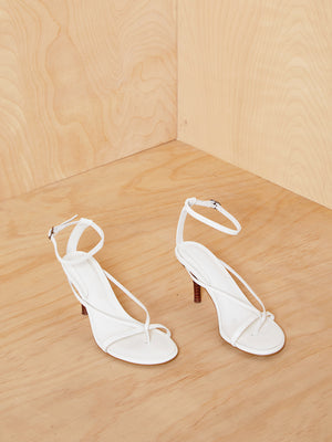 Jaggar The Label White Heeled Sandal