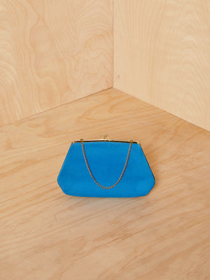 Vintage Blue Chain Strap Mini Purse