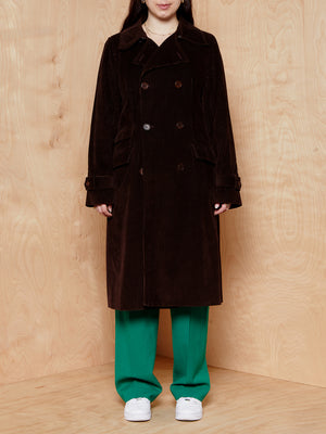 J.Crew Brown Cordouroy Trench Coat