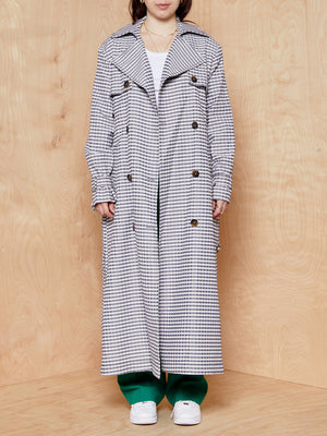 Vintage The Limited Checkered Trench Coat