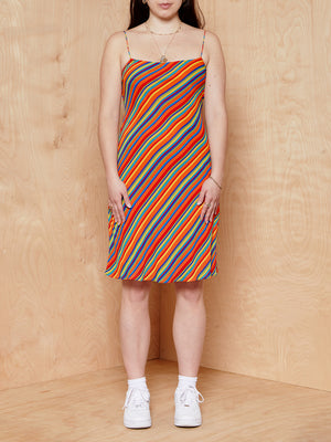 Vintage Ralph Lauren Multi-Colored Stripe Dress