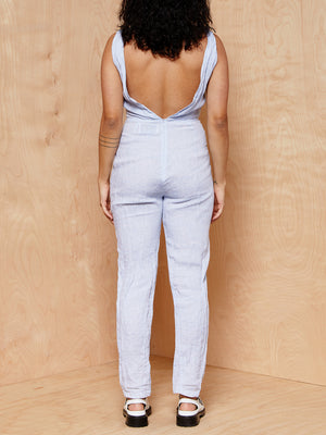 Solid & Striped Light Blue Jumpsuit