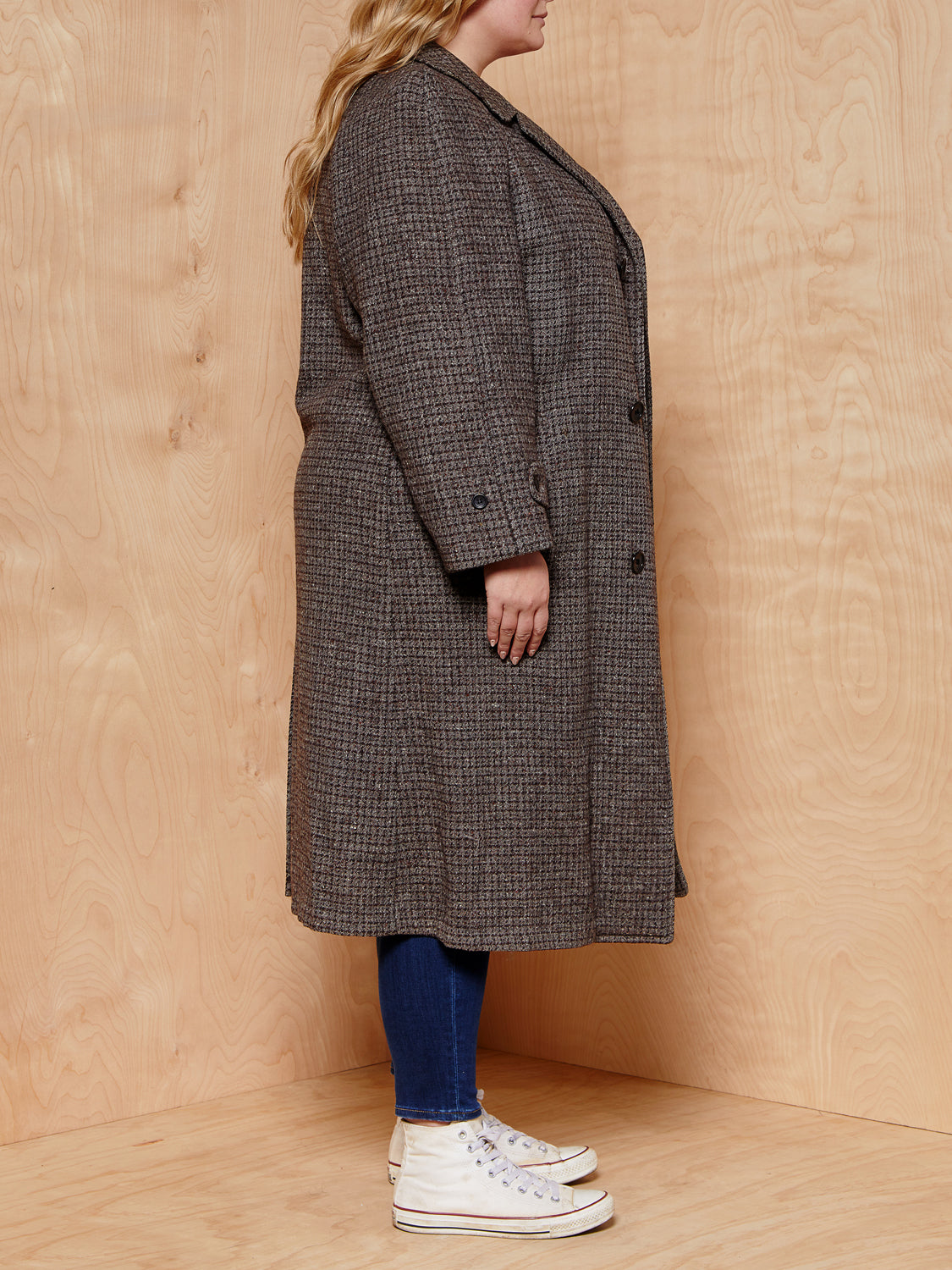 Vintage Grey/Brown Wool Coat