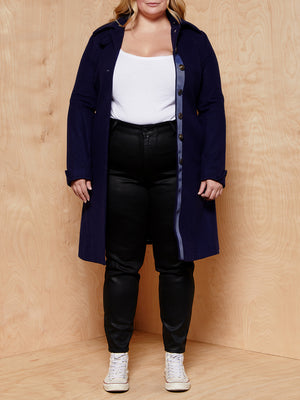 Oilily Navy Wool Coat