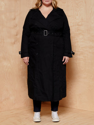 Universal Standard Black Trench Coat