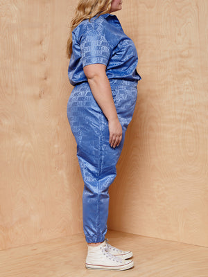 NikeAir Blue Logo Jumpsuit