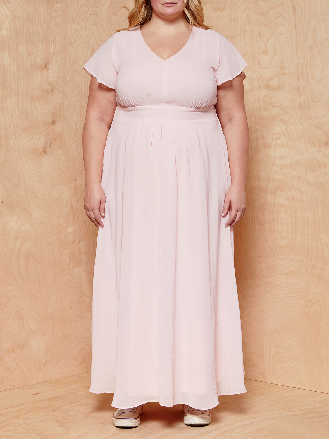 Simply Be Pink Maxi Dress