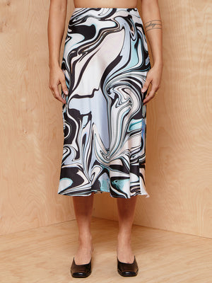 The Fifth Label Swirl Print Skirt