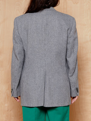 Vintage Haggar Grey Check Wool Blazer