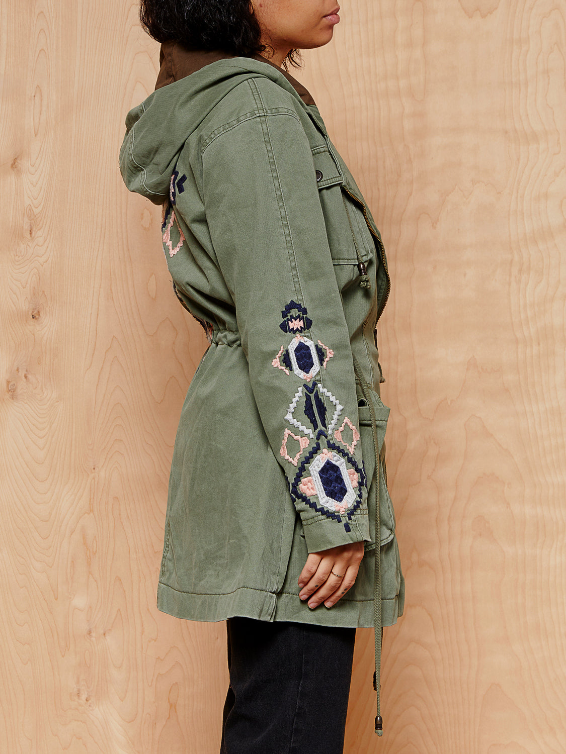 Free People Coat with Back Embroidery