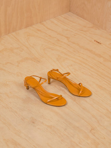 Mango orange kitten heel sandal