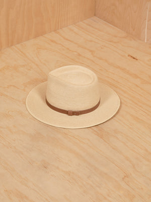 SunBody Straw Hat with Leather detail