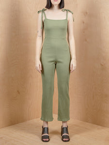 Urban Outfitters Olive Green Ribbed Jumpsuit