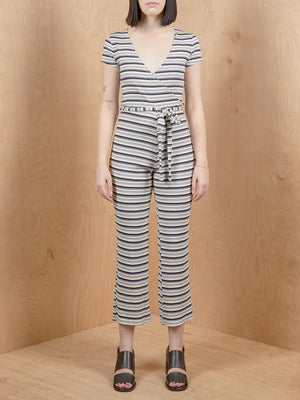 Ribbed Stripe Jumpsuit