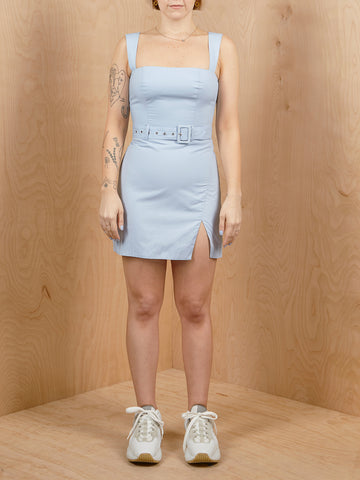 Majorelle Mini Dress with Belt