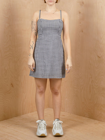 Vintage Gingham Mini Dress