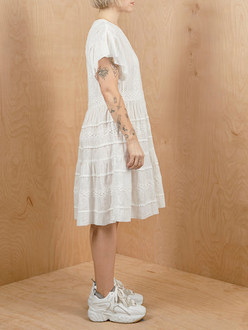 CLOSED White Embroidered Dress