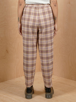 Collusion Brown Plaid Pants