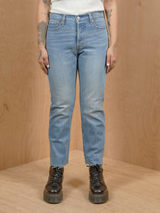 Levi's Distressed Crop Jeans