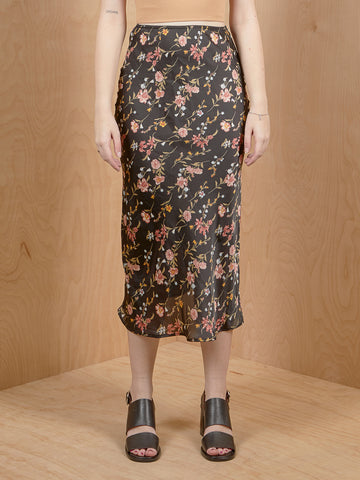 AUDREY 3+1 Floral Silk Cut on Bias Skirt
