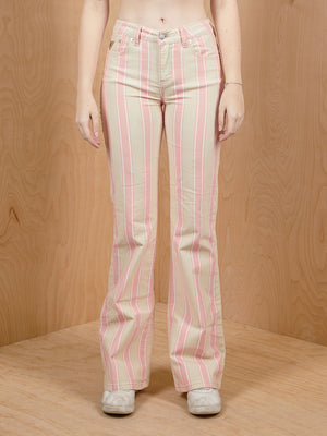 Lois Striped Mid-Rise Corduroy Pants