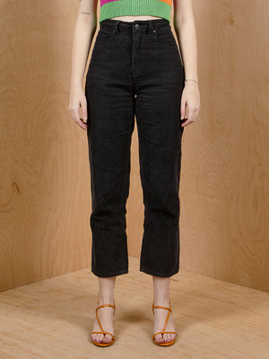Afends. High Waisted Black Cordoroy Pants