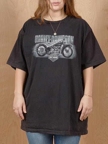 Vintage Black and White Harley Davidson T-Shirt