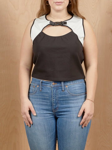 Poster Girl Crop Top With Buckle Detail
