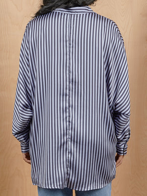 Urban Outfitters Striped Balloon Sleeve Button Up
