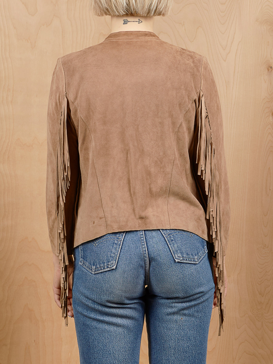 Cleobella Brown Suede Jacket with Fringe