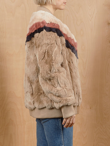 Real Fur Heartloom Bomber Style Jacket