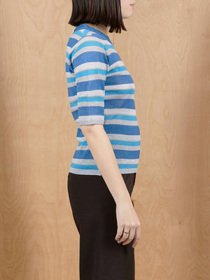 Vintage Sparkly Striped Knit Top