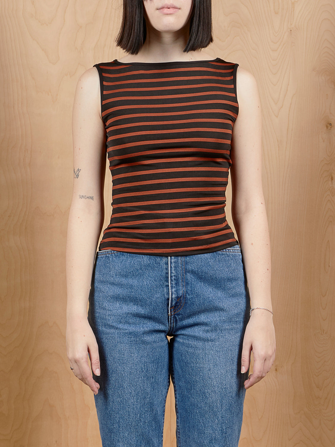 French Curve Striped Tank
