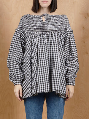 LibertiK Gingham Peasant Top