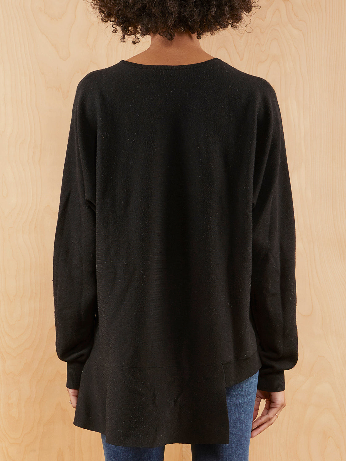 Tibi Black Assymetic Sweater