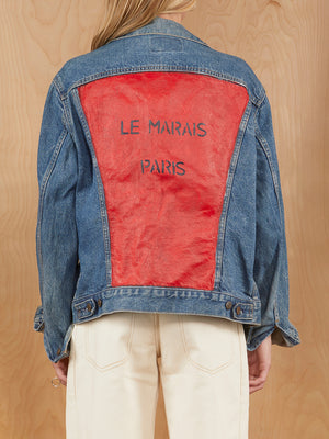 Le Marais Paris Painted Levi's Denim Jacket