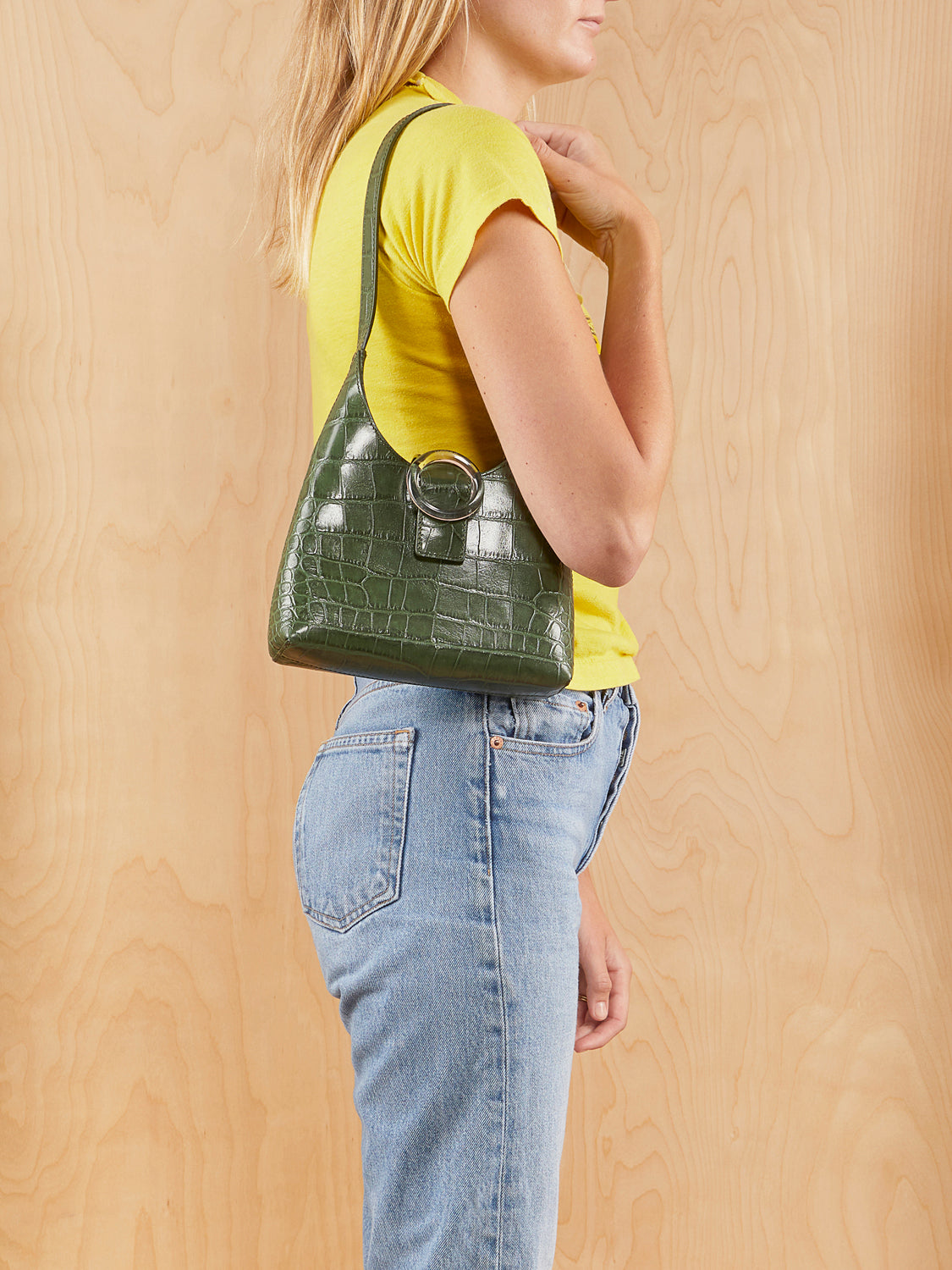 IMAGOA Green Croc Purse