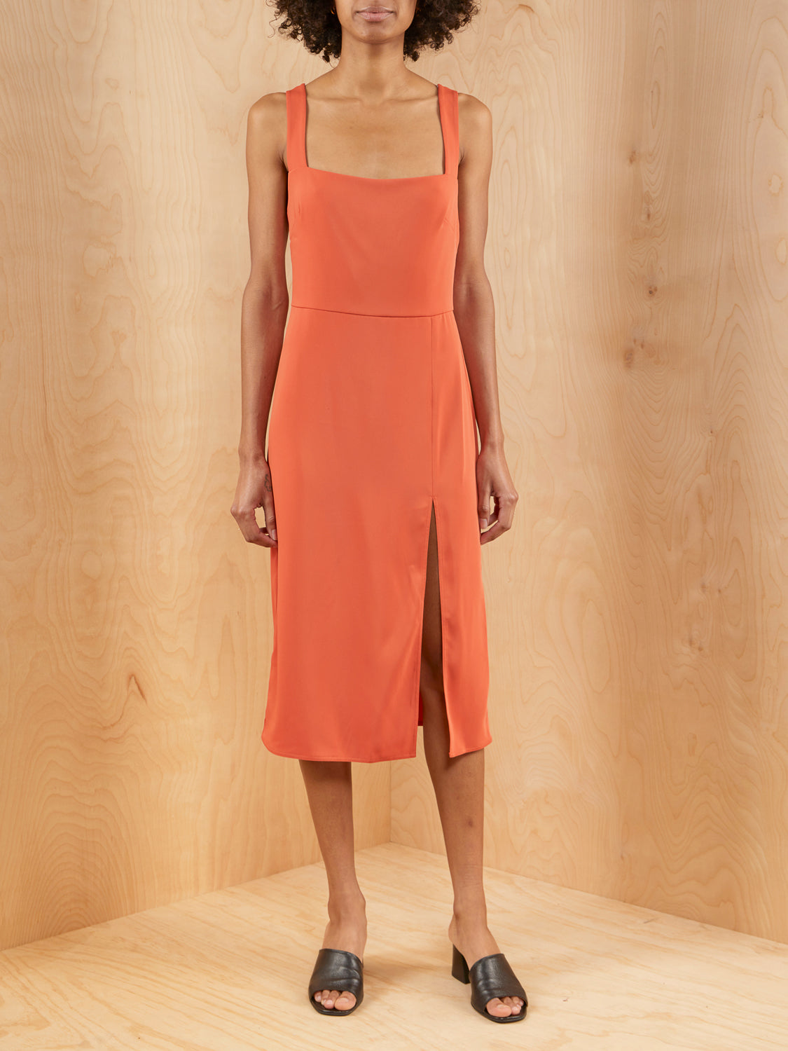 Aritzia Avenir Rust Dress