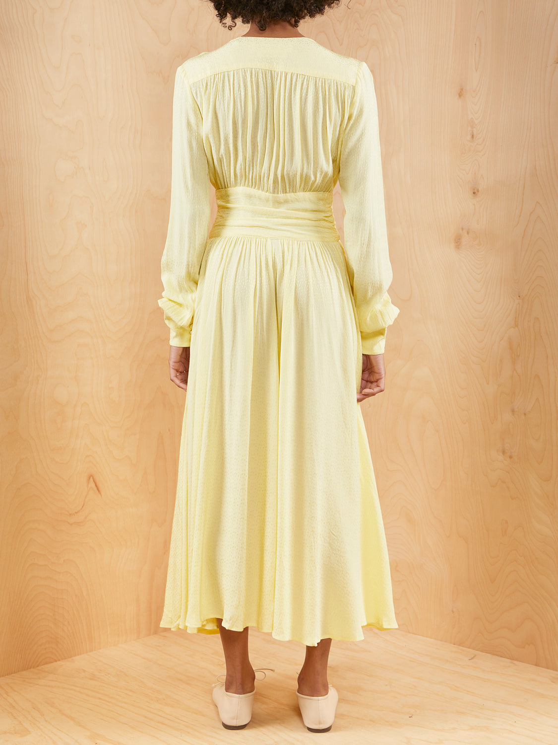 ROTATE Yellow Long Sleeve Dress