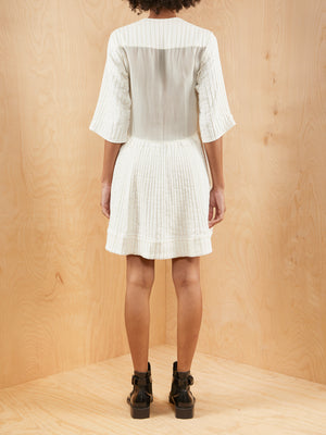 Ellery White Textured Dress