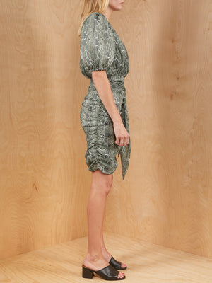 Song Of Style Snake Print One Sleeve Dress